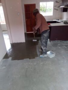 priming a Seamless Self Leveling Floor