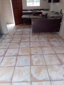 Tiles prepared for Self Leveling Screed